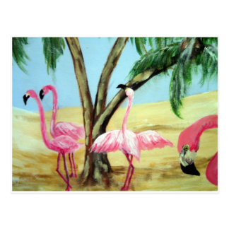 """The Florida Flamingos"" Horizonal Postcard"