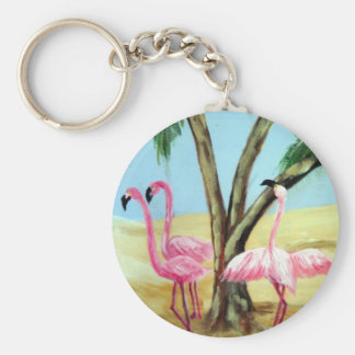 """The Florida Flamingos"" Keychain"