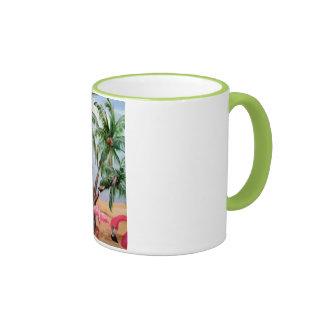 """The Florida Flamingos"" Ringer Mug"