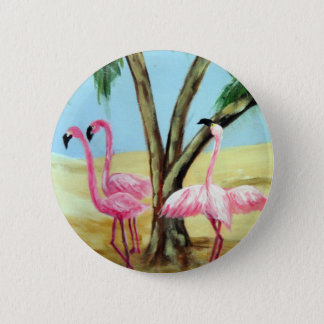 """The Florida Flamingos"" Round Button"