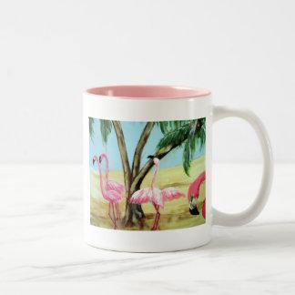 """The Florida Flamingos"" Two Tone Mug"