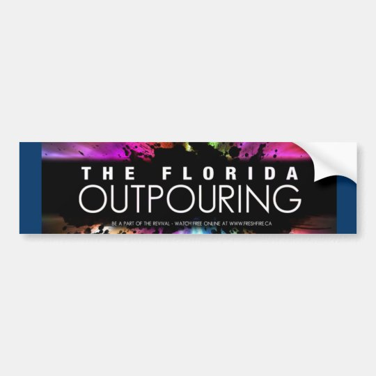The Florida Outpouring Bumper Sticker