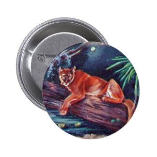 The Florida panther in the swamp Pinback Button