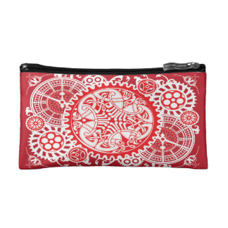 The Flow of Time (Red) Cosmetic Bag