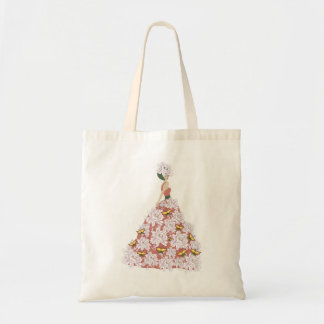 The flower dress tote bag