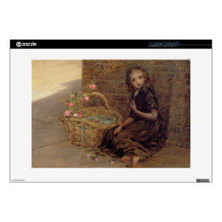 """The Flower Girl, 1872 (oil on canvas) 15"""" Laptop Decal"""