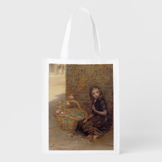 The Flower Girl, 1872 (oil on canvas) Reusable Grocery Bag