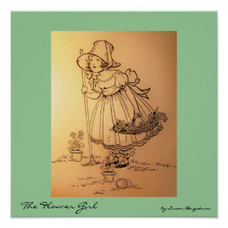 """""""The Flower Girl""""  by Susan Bergstrom Posters"""