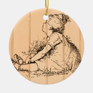 The Flower Girl Christmas Tree Ornaments
