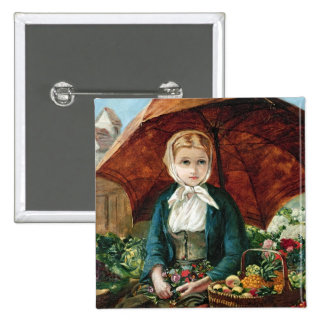 The Flower Girl Pinback Button