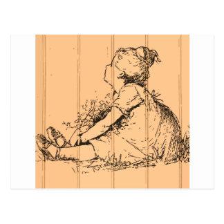The Flower Girl Postcard