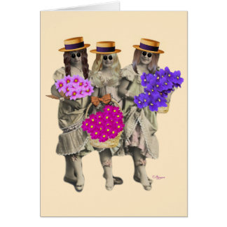 The Flower Girls Greeting Card