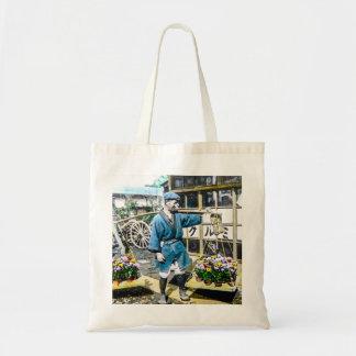 The Flower Merchant in Old Japan Vintage Tote Bag