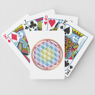 the flower of the life bicycle playing cards
