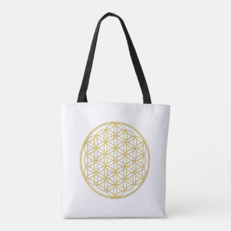 The flower of the life - gold - carrying bag