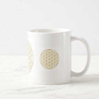 The flower of the life - gold - cup