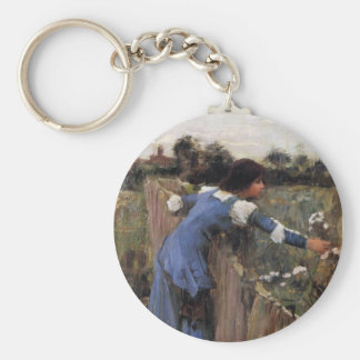 The Flower Picker Basic Round Button Keychain