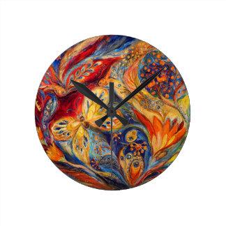 The Flower Round Clock