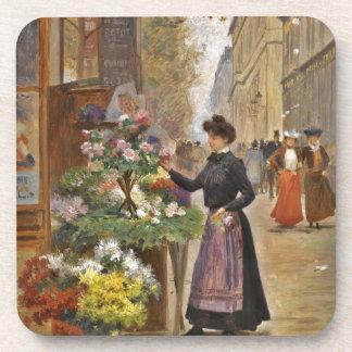 The Flower Seller Beverage Coaster