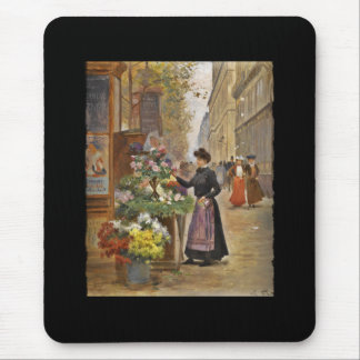 The Flower Seller Mouse Pad