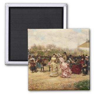 The Flower Sellers, 1883 Fridge Magnets