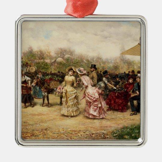 The Flower Sellers, 1883 Metal Ornament