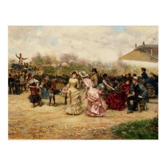 The Flower Sellers, 1883 Postcard