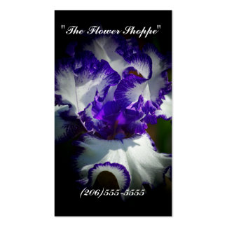 """""""The Flower Shoppe"""" business card"""