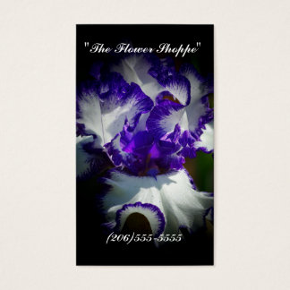 """The Flower Shoppe"" business card"