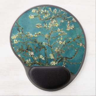 The flower the branch of the almond which blooms gel mouse mats
