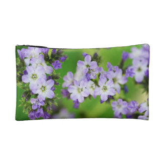 The flower whose purple is small cosmetic bag