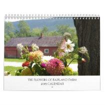 The Flowers of Fairland Farm 2019 Wall Calendar