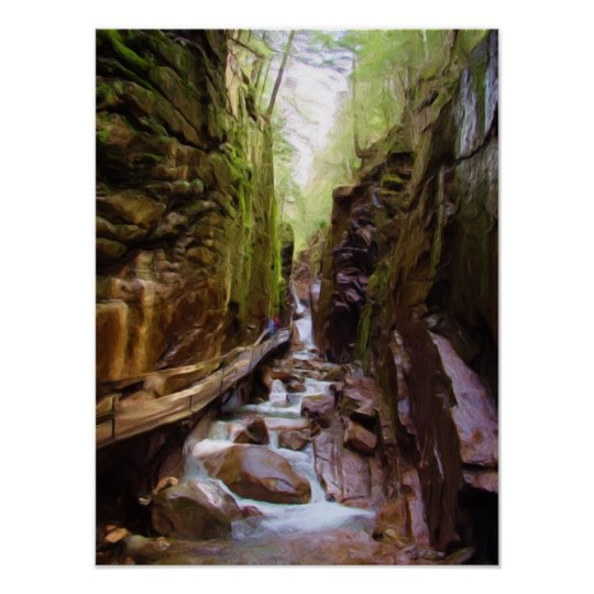 The Flumes Franconia S Notch New Hampshire Poster Zazzle Com