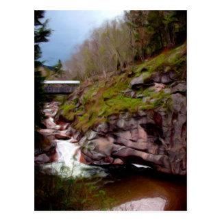 The Flumes, Franconia's Notch, NH Postcard