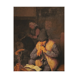 The Flute Player, 17th century Canvas Print