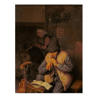 The Flute Player, 17th century Postcard