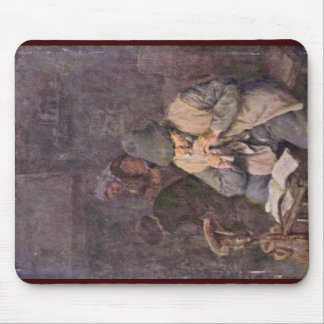 The Flute Player By Ostade Adriaen Van Mouse Pad