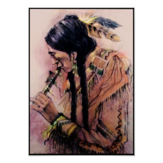 The Flute Player Canvas Print