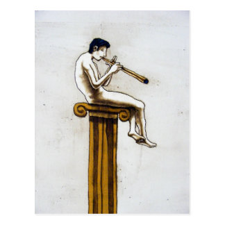 The Flute-player Postcard
