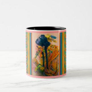 The Flute Player Two-Tone Coffee Mug
