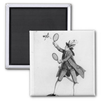The Fly Catching Macaroni 2 Inch Square Magnet