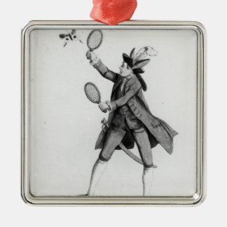 The Fly Catching Macaroni Metal Ornament