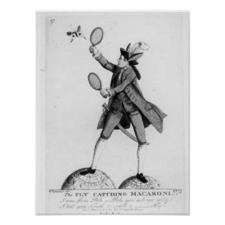 The Fly Catching Macaroni Poster