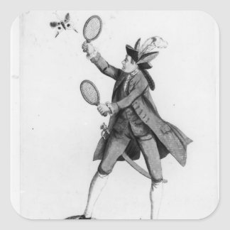 The Fly Catching Macaroni Square Sticker