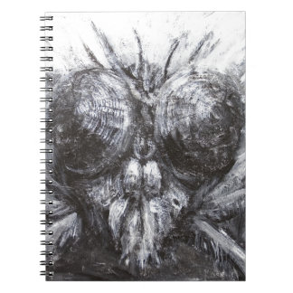 The Fly Head (surreal realism) Spiral Note Books