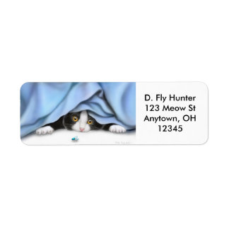 The Fly Hunter Cat Label