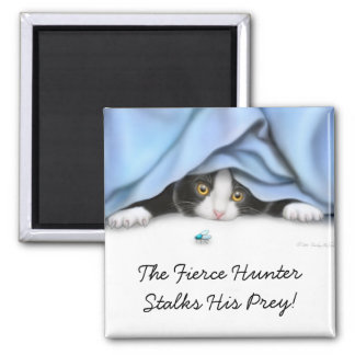 The Fly Hunter Cat Magnet