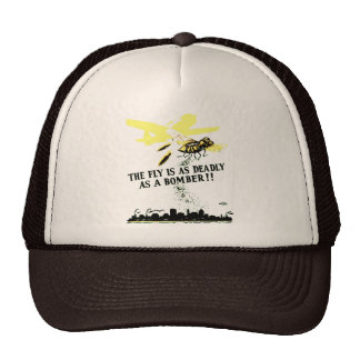 THE FLY IS AS DEADLY AS A BOMBER ! TRUCKER HAT