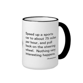 The flyer's riddle, sports car or airplane? ringer mug