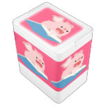 The Flying Book and Cartoon Pig 24 Can Cooler